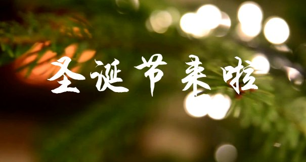 圣诞节视频封面