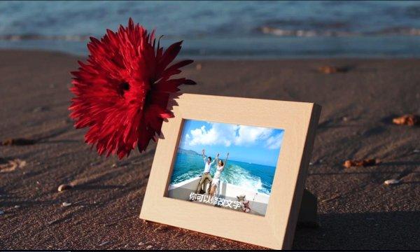 浪漫海景電子相冊模板