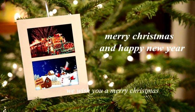 圣誕節電子相冊模板