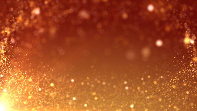 金色粒子素材