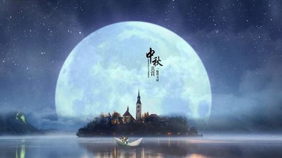 中秋月圓圖片素材