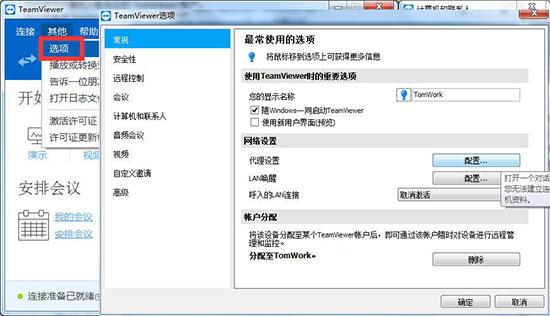 TeamViewer选项
