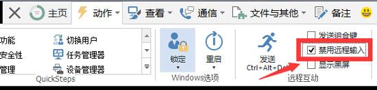 TeamViewer禁用远程输入