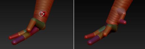 Z球创建恐龙脚趾