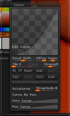 Edit Curve编辑曲线