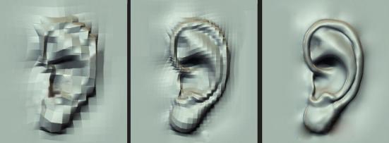 耳朵雕刻級別