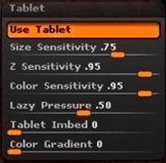 Tablet子面板