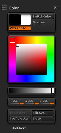 color顏色調色板