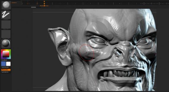 雕刻面部形状