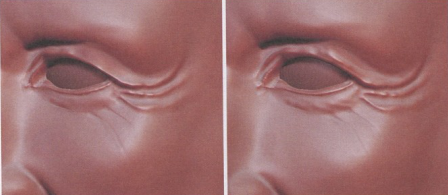 ZBrush眼睛皱纹