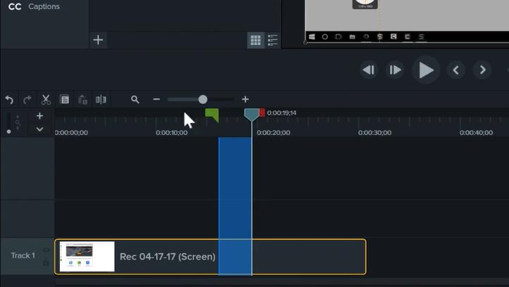 图1:Camtasia软件的编辑视频