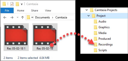 图3:Camtasia录制文件保存
