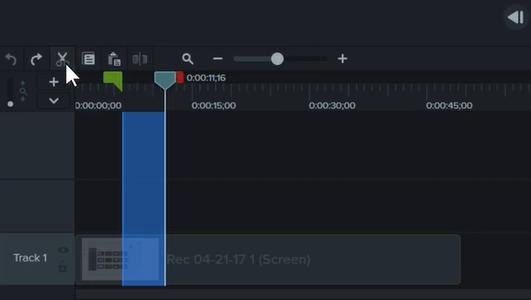 图4:Camtasia软件进行录屏编辑