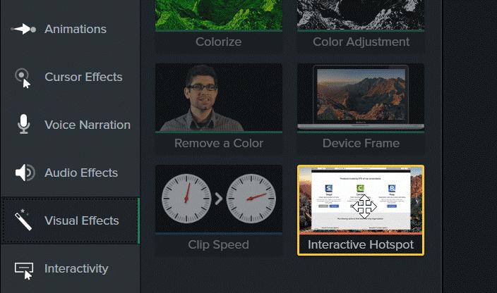 图1:Camtasia软件的交互热点