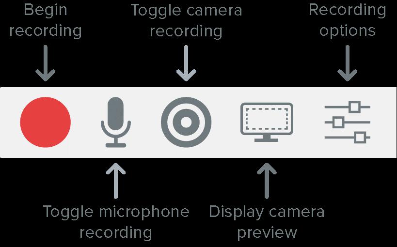 图2:Camtasia软件的自定义录制设置