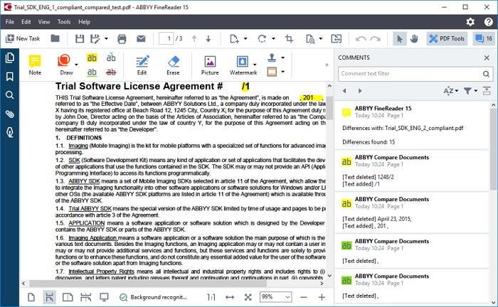 图4:以一个文档作为基准进行对比