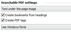 创建可搜索PDF