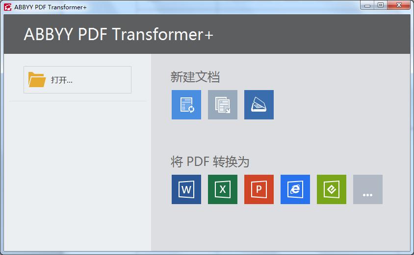 ABBYY PDF Transformer+支持的格式