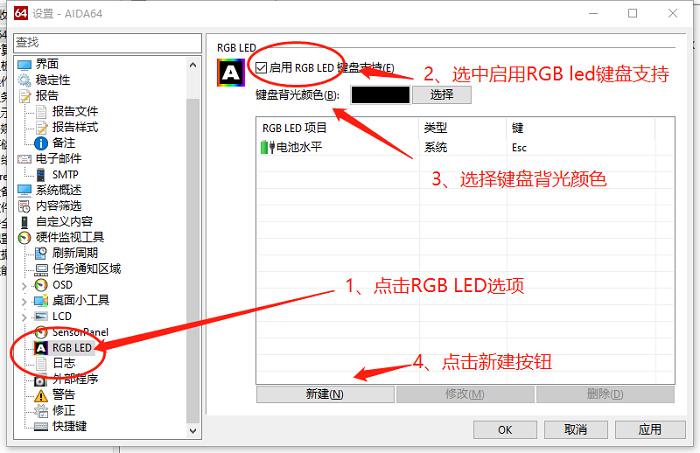 图3:RGB LED选项设置