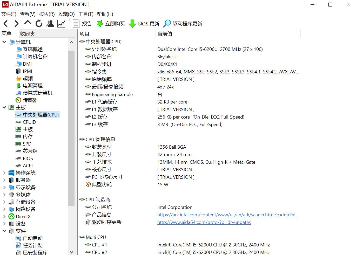 图3:CPU详情
