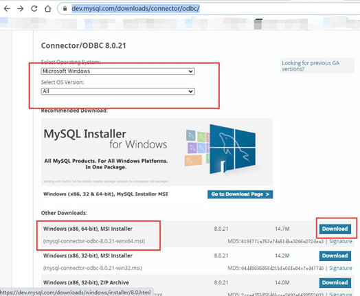 下载MySQL驱动程序