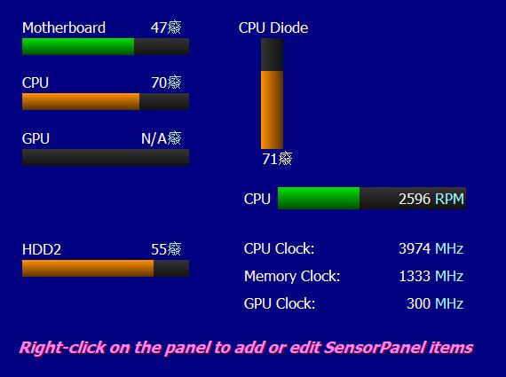 SensorPanel显示面板