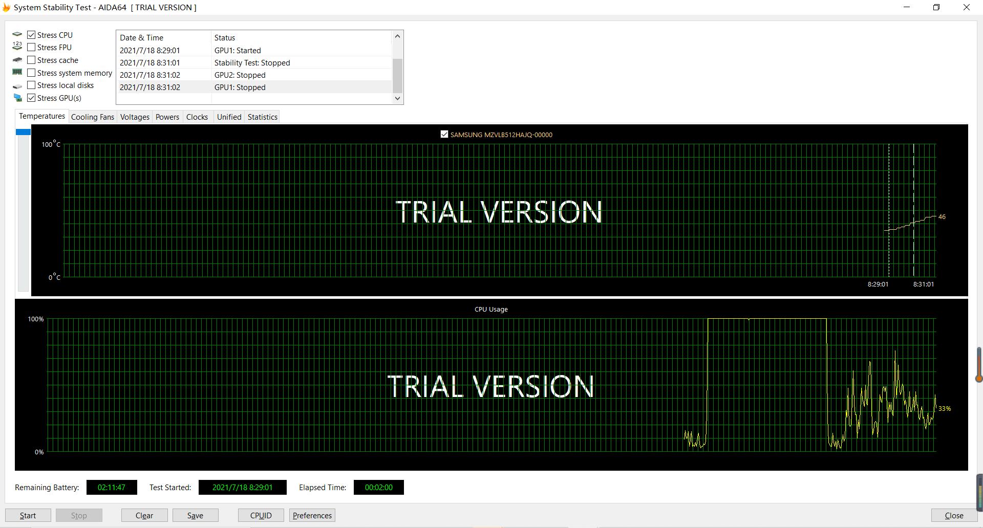 利用AIDA64进行系统稳定性测试