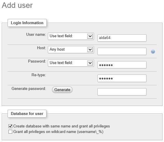 添加MySQL新用户账号