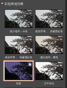 圖 2:彩色其他效果-夜晚
