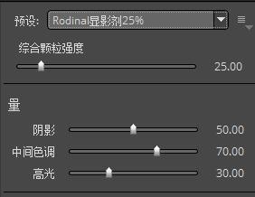 图 5:Rodinal显影剂25%