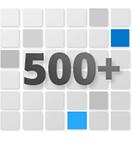 500多種可自定義的預設