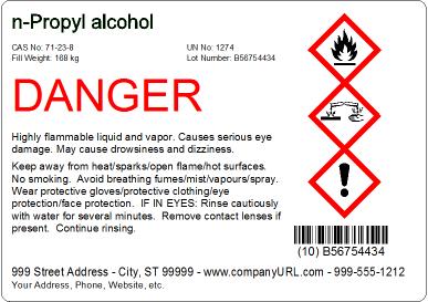 BarTender案例——制作符合GHS制度的合规性标签
