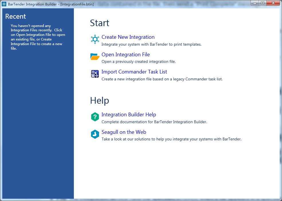 BarTender集成—— Integration Builder工具