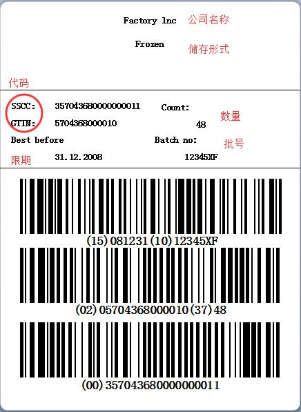 食品物料标签制作案例