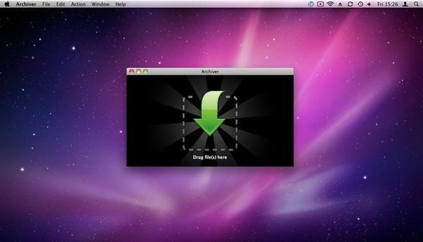 Archiver Mac主页面