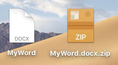 Word文檔及其壓縮包界面