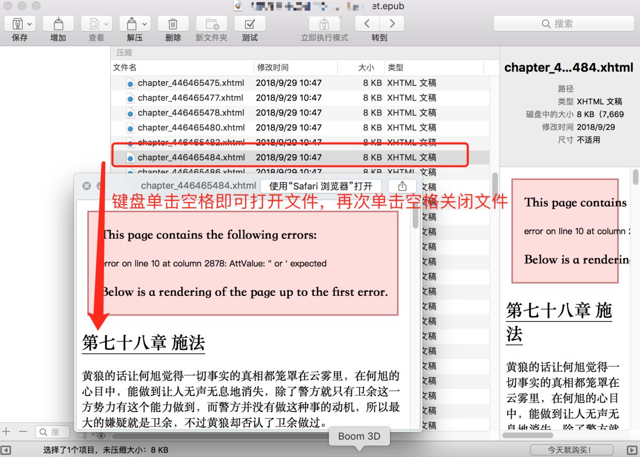 epub文件內容界面