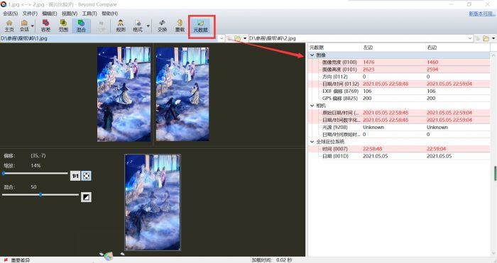 图7:展开元数据窗口