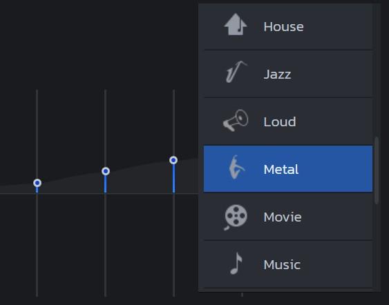 选择音频预设模式
