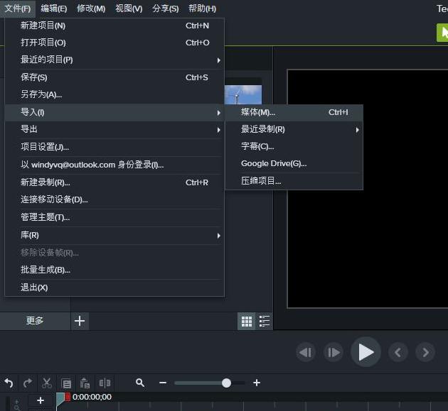 图2:导入视频