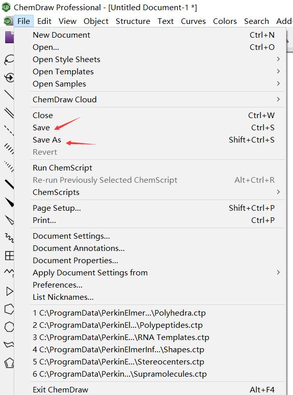 选择Save键或者Save As键保存文件
