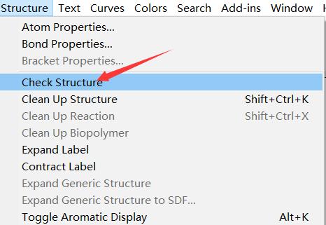 利用Check Structure检查有无编辑错误