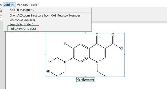 选择PubChem GHS LCSS