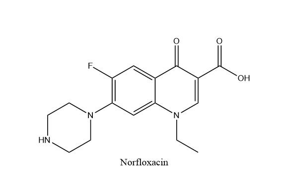 诺氟沙星结构式
