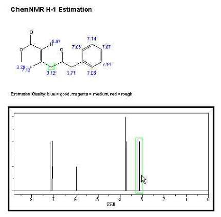 1H-NMR预测结果