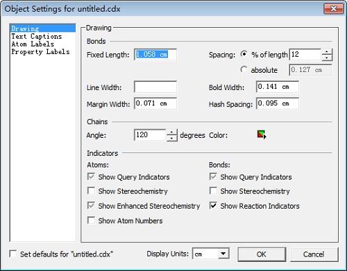Object Settings对话框