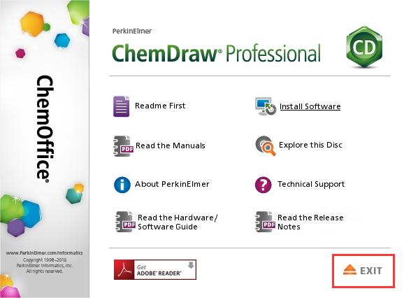ChemDraw15.1 Pro安装页面