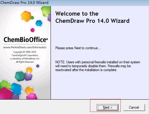 ChemDraw Pro 14安装界面