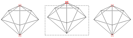 把后面的结构图形变换到前面