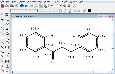 13C- NMR的预测数据
